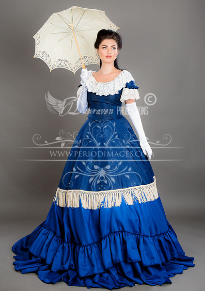 Image 1 of Victorian Blue Promenade Dress