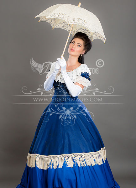Image 2 of Victorian Blue Promenade Dress