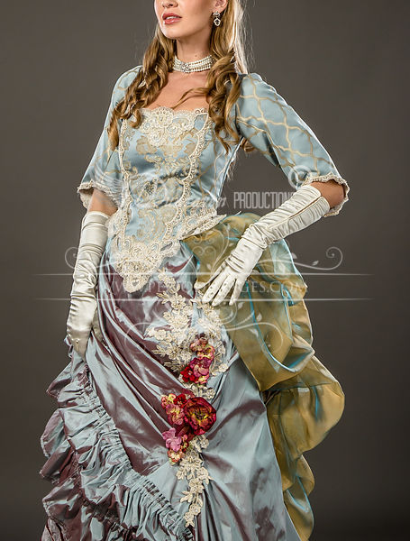Image 2 of Duchess Rose Victorian Ball Gown