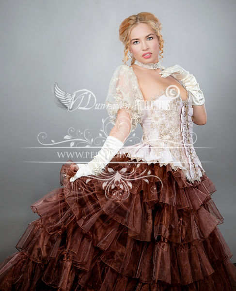 Image 0 of Ribbons & Roses Couture Victorian Ball Gown