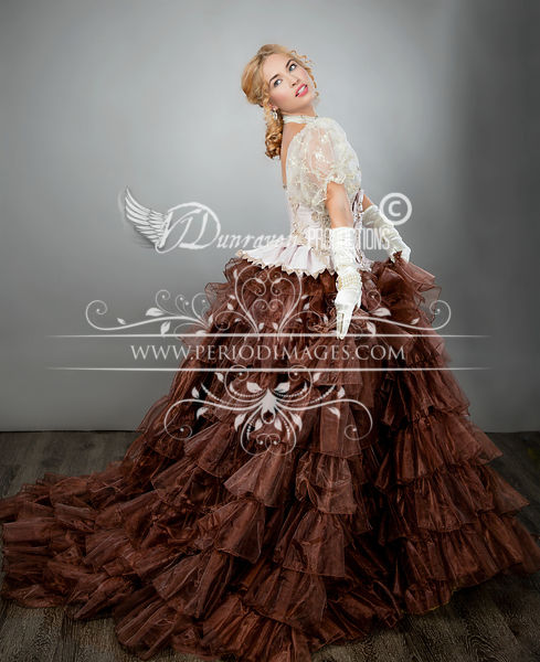Image 1 of Ribbons & Roses Couture Victorian Ball Gown