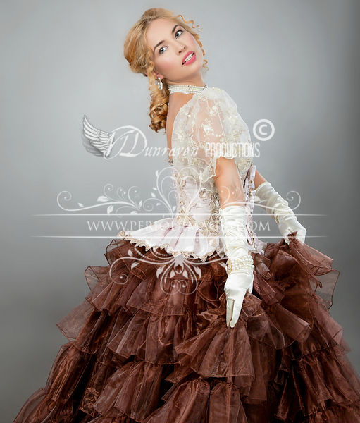 Image 3 of Ribbons & Roses Couture Victorian Ball Gown