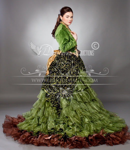 Image 0 of Willow Green Victorian Ball Gown