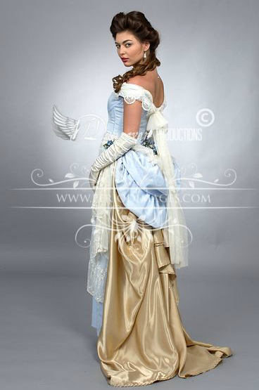 Image 1 of Pale Periwinkle Victorian Promenade Gown