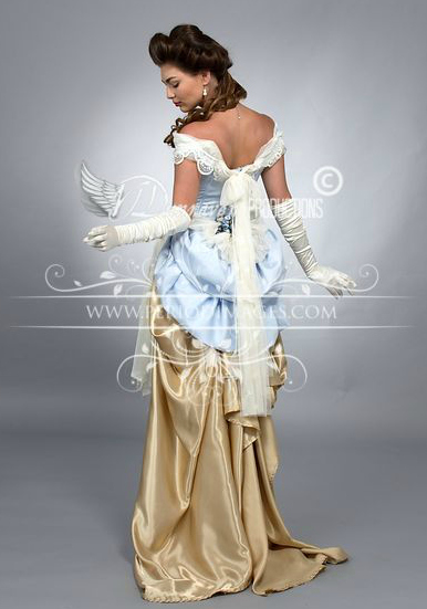 Image 2 of Pale Periwinkle Victorian Promenade Gown