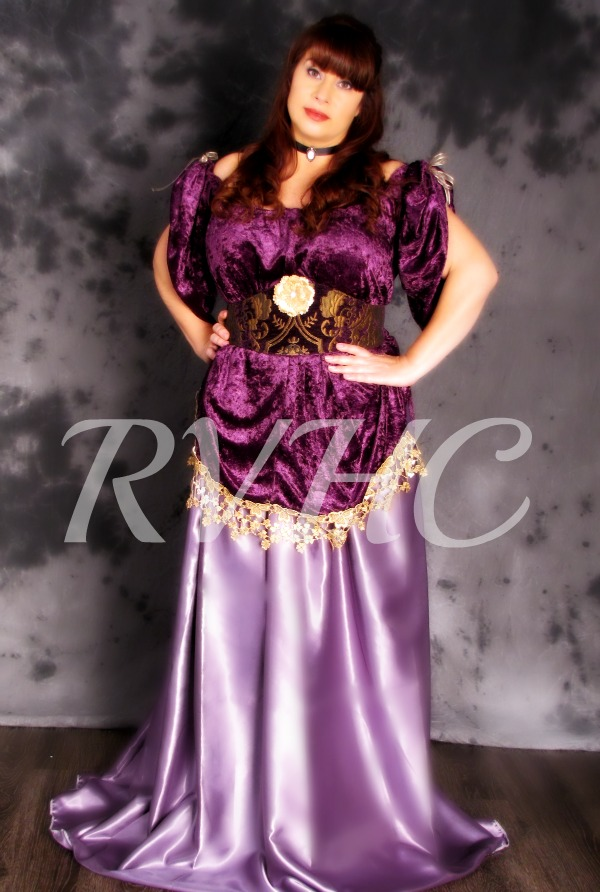 Image 0 of Orchid Victorian Promenade Gown