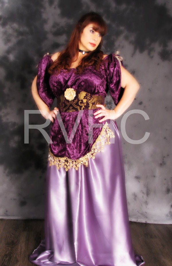 Image 1 of Orchid Victorian Promenade Gown