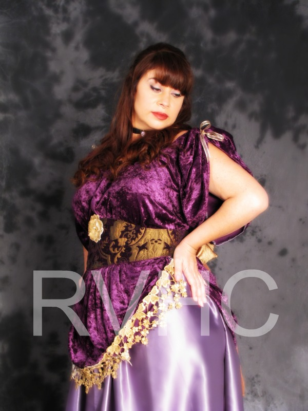 Image 2 of Orchid Victorian Promenade Gown