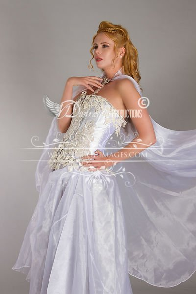Image 1 of Snow Queen Period Fantasy  Gown