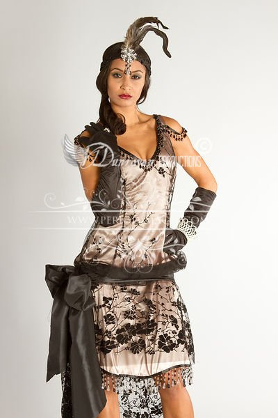Image 0 of 1920's Flapper Beaded Soiree Dress