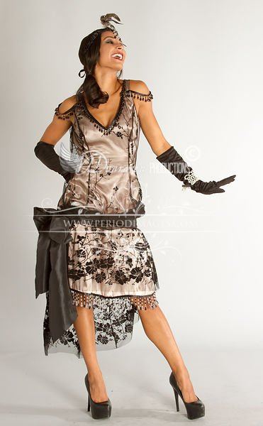 Image 1 of 1920's Flapper Beaded Soiree Dress Size 7-8 CLEARANCE SALE!