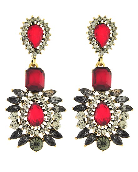 Image 0 of Georgian Style Ruby Drop Earrings