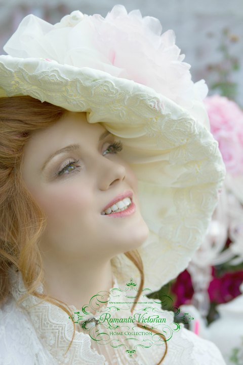 Image 2 of Victorian Rose Ivory Hat