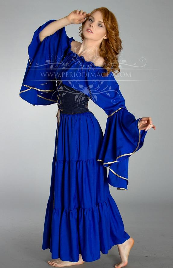 Image 0 of Royal Blue Medieval Dress