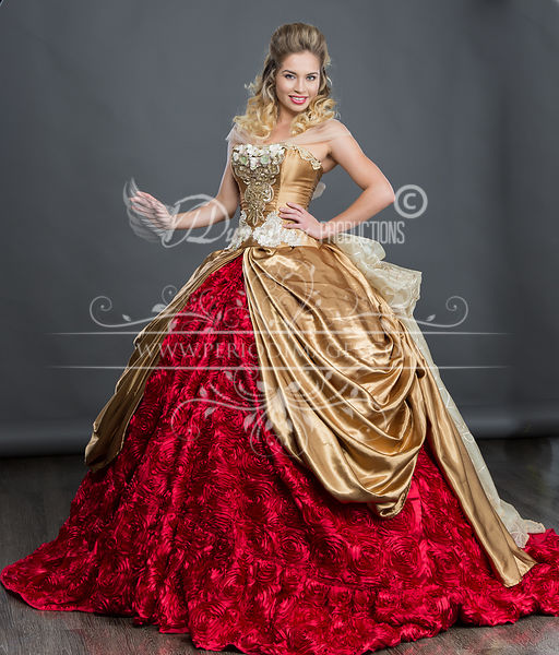 Image 1 of Rose Gold Ball Gown