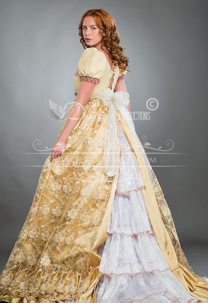 Image 0 of Light Gold Victorian Ball Gown