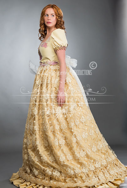 Image 1 of Light Gold Victorian Ball Gown