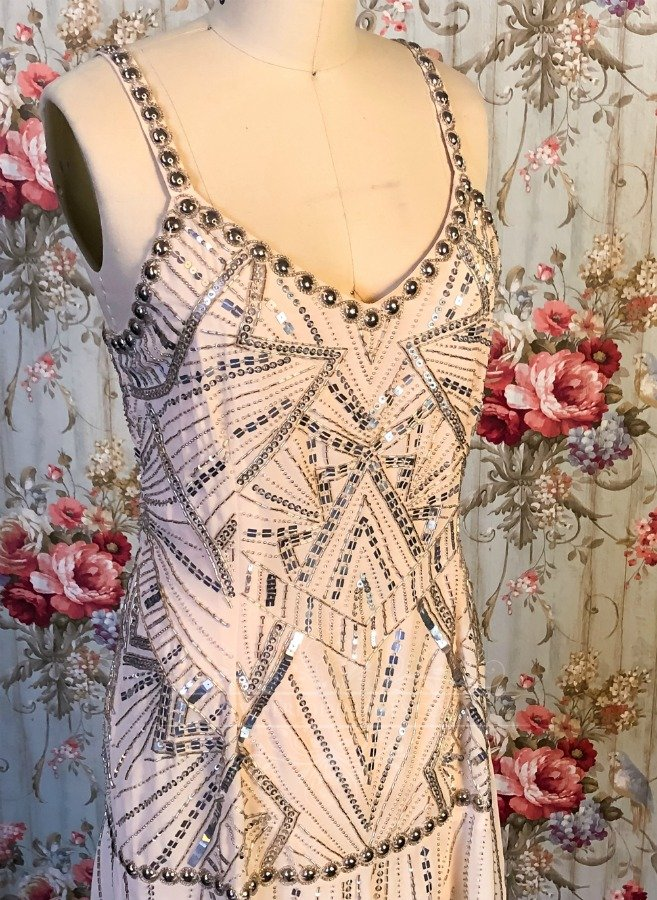 Image 2 of 1920's Vintage Blush Beaded Dress