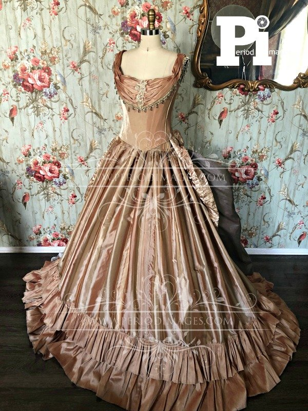 Image 0 of Antique Gold Victorian Ball Gown