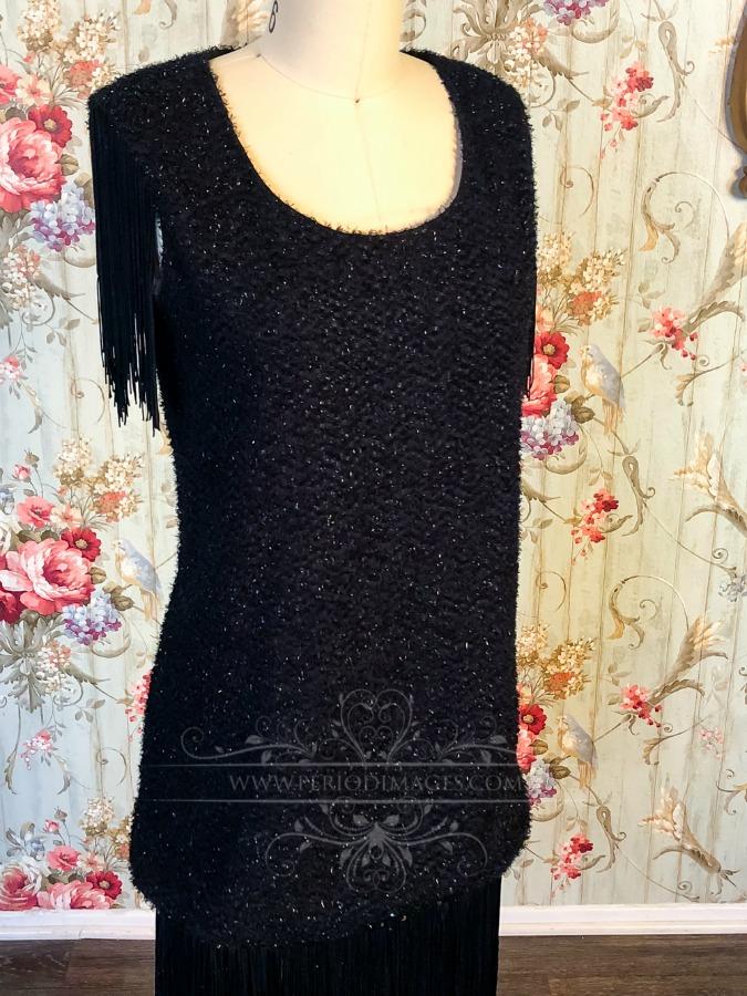 Image 1 of 1920's Vintage Black Fringe Dress