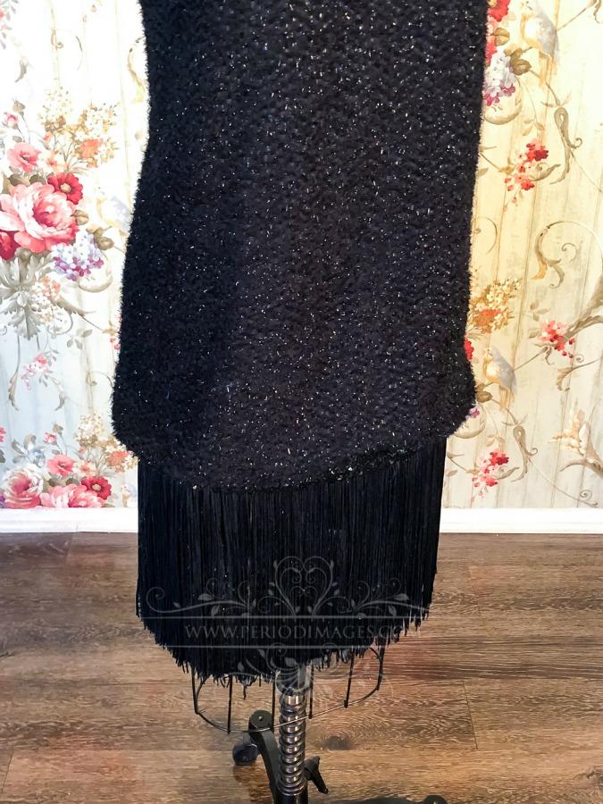 Image 2 of 1920's Vintage Black Fringe Dress
