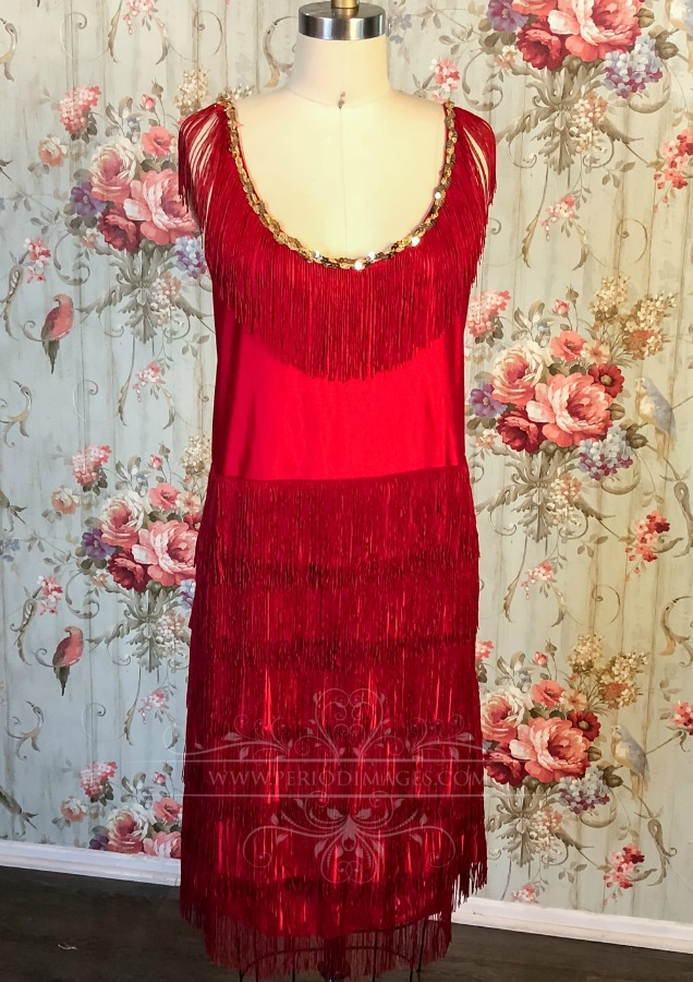 Image 0 of 1920's Vintage Red Dress