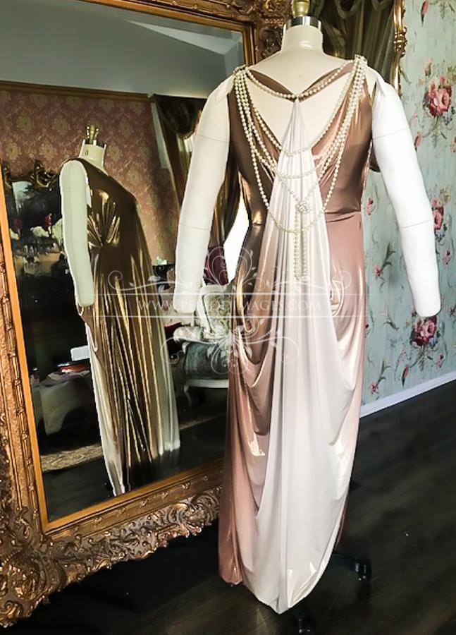 Image 1 of 1920's Golden Copper Dinner Dress