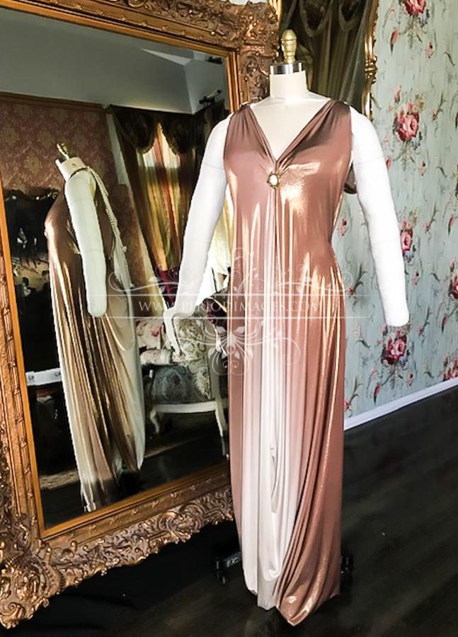 Image 2 of 1920's Golden Copper Dinner Dress
