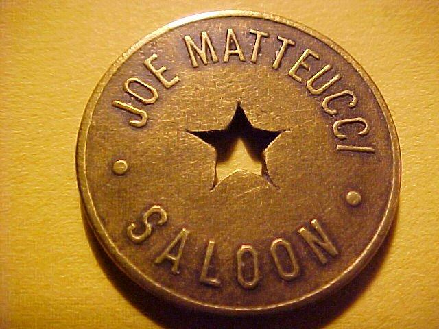 Great Falls, Montana) JOE MATTEUCCI SALOON 10c Drink or Cigar