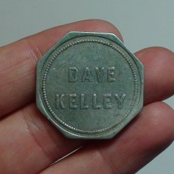 Thumbnail of (Bridgeport, Nebraska) Token:  DAVE KELLEY 25&#0162, 1921-44