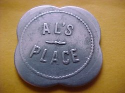 Thumbnail of (Toledo, Oregon) AL'S PLACE 50c Token