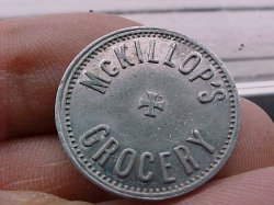 Thumbnail of (Portland, OR) McKILLOP'S GROCERY CTS 5 CTS Token
