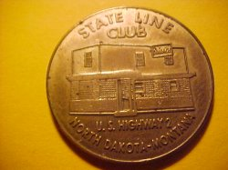 Thumbnail of (Fairview) North Dakota-Montana, State Line STATE LINE CLUB RODEO Token