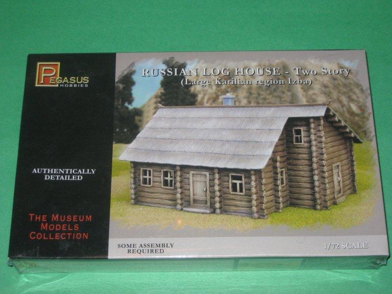 Pegasus 1 72nd Scale Plastic Russian 2 Story Log House Kit