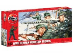 1/32nd Scale Airfix World War II German Mountain Infantry Plastic Soldiers Set