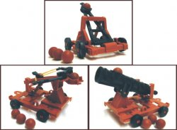 Medieval Catapult, Crossbow, And Cannon Plastic Set No. 42