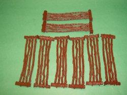 Long Plastic Split Rail 8 Pc Fence Set