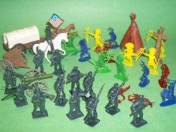 American Western Adventure Plastic Figures Set
