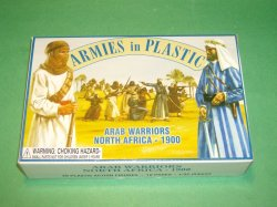 AIP 1/32nd Plastic Arab Warriors  North Africa 1900 Set 5443