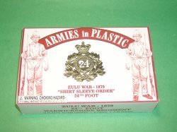 AIP 1/32nd Plastic Zulu War British 24th Foot Soldiers Set 5573