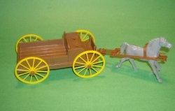 MPC Recast Grey Plastic Single Hitch Wagon
