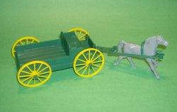MPC Recast Green Plastic Single Hitch Wagon