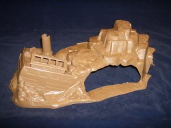 Marx Recast Hard Plastic Shipwreck And Cave Piece