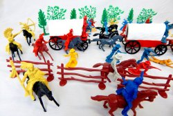 '.Wild West Wagon Ambush Playset.'