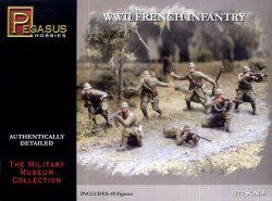 Pegasus 1/72nd Scale WWII French Infantry Plastic Soldiers Set No. 7306