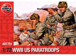 Airfix 1/72nd Scale WWII U.S. Paratroopers Plastic Soldiers Set