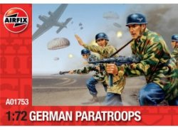 Airfix 1/72nd Scale WWII German Paratroopers Plastic Soldiers Set