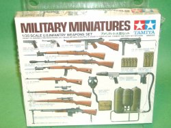Tamiya 1/35 Scale WWII U.S. Infantry Weapons Set No. 35121
