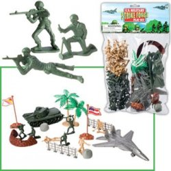 Military Strike Force Deluxe Figures Set W/Tank And Acessories