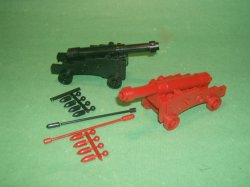 MPC Re-Issue Pair Plastic Naval Cannons